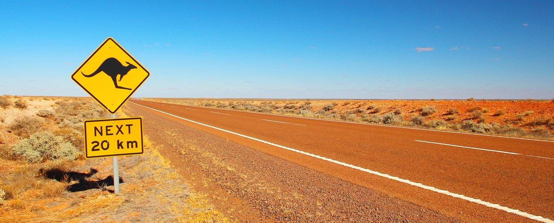 Road sign in Australia